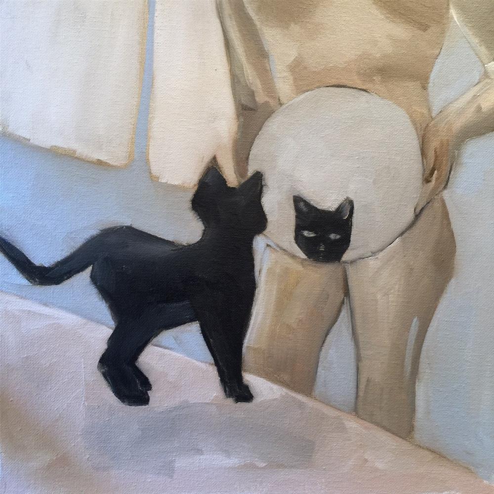 """342 Cat Girl"" original fine art by Jenny Doh"
