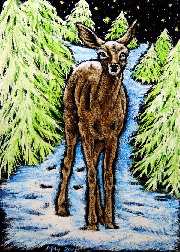 """Winter Passage"" original fine art by Monique Morin Matson"