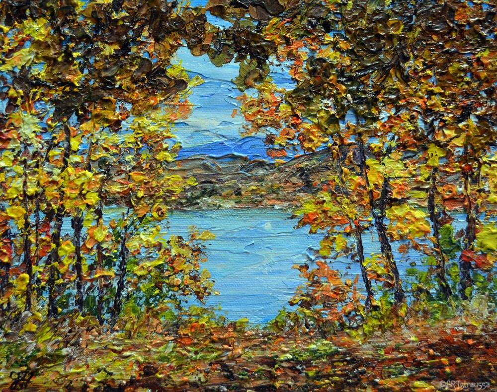 """Autumn in Utah"" original fine art by Gloria Ester"