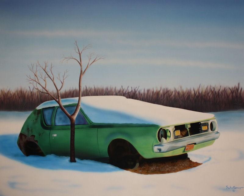 """""""Abandoned Gremlin"""" original fine art by Fred Schollmeyer"""
