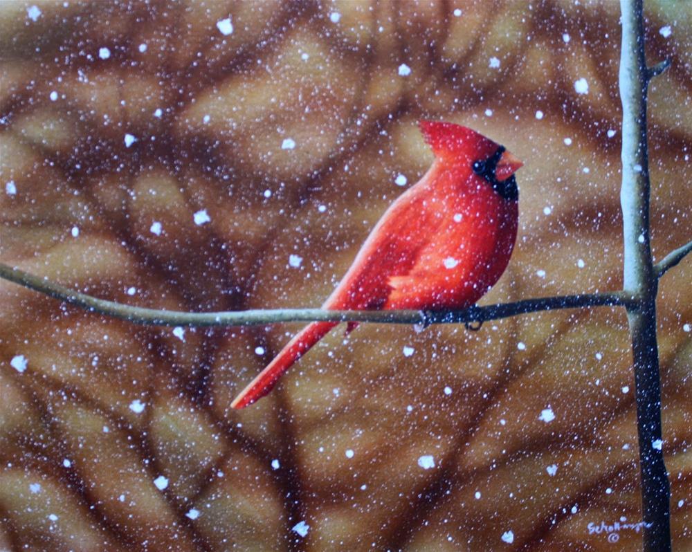 """Mid-Winter Snowfall"" original fine art by Fred Schollmeyer"