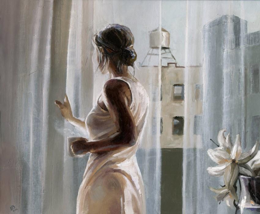 """SOHO Loft- V"" original fine art by Victor Bauer"