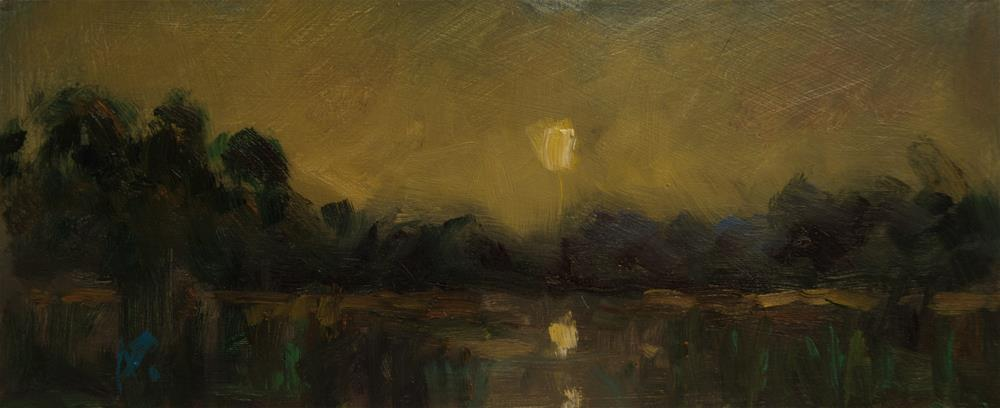 """Sun over Lake"" original fine art by Andre Pallat"
