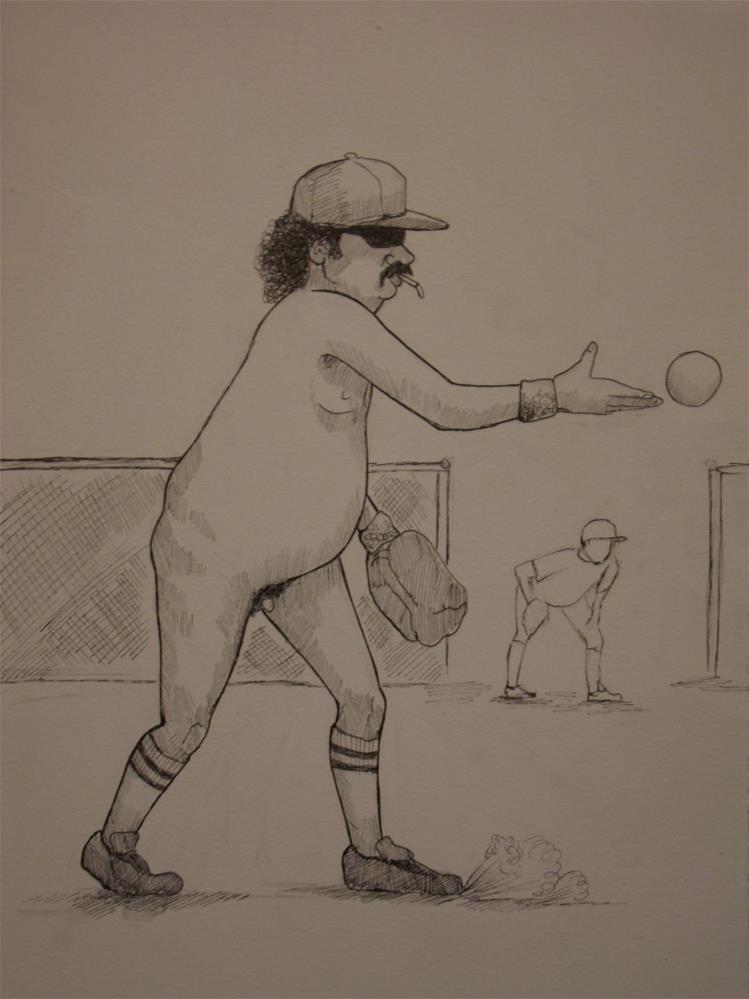 """""""An American Man, Nude, No. 404"""" original fine art by wanda sigafus"""