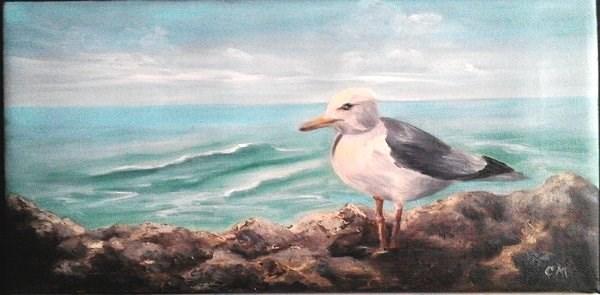"""""""Seagull"""" original fine art by Camille Morgan"""