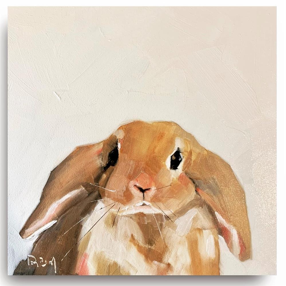 """""""852 Cute Widdle Wabbit"""" original fine art by Jenny Doh"""