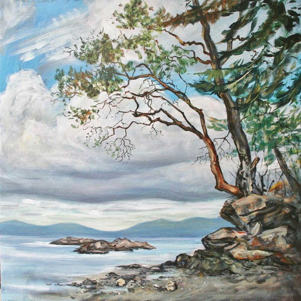 """""""Saanich Inlet afternoon"""" original fine art by Ruth Van Egmond"""