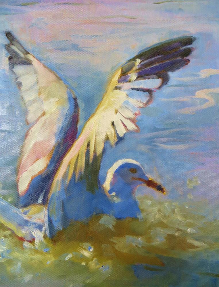"""Splashdown!"" original fine art by Scarlet Owl Studio"