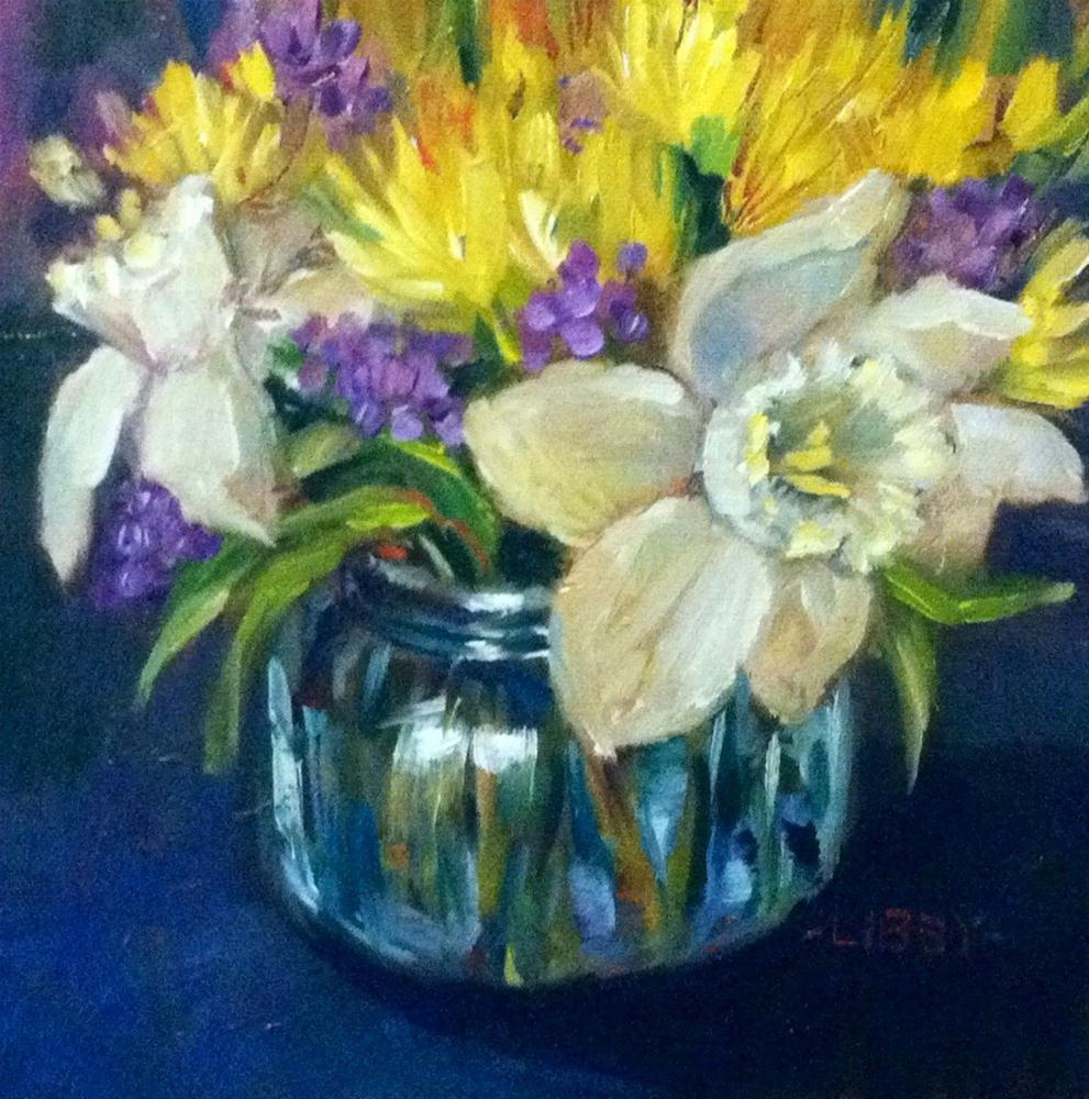 """Daffodil Bowl"" original fine art by Libby Anderson"