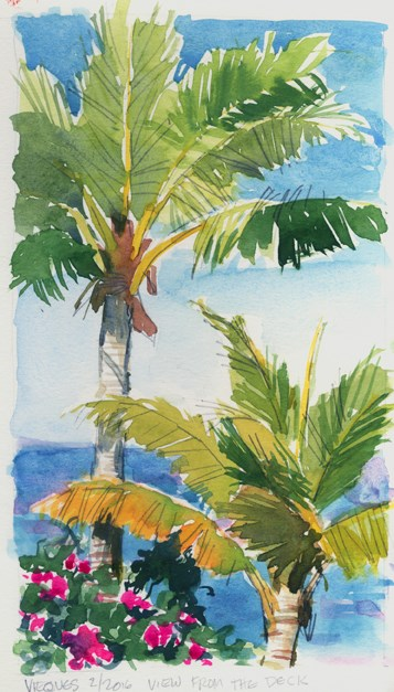 """Vieques, Puerto Rico"" original fine art by Kathy Weber"