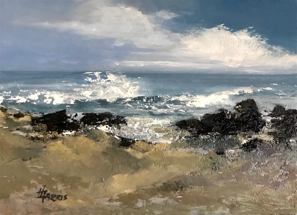 """Sea Escape Series No.4"" original fine art by Helen Harris"