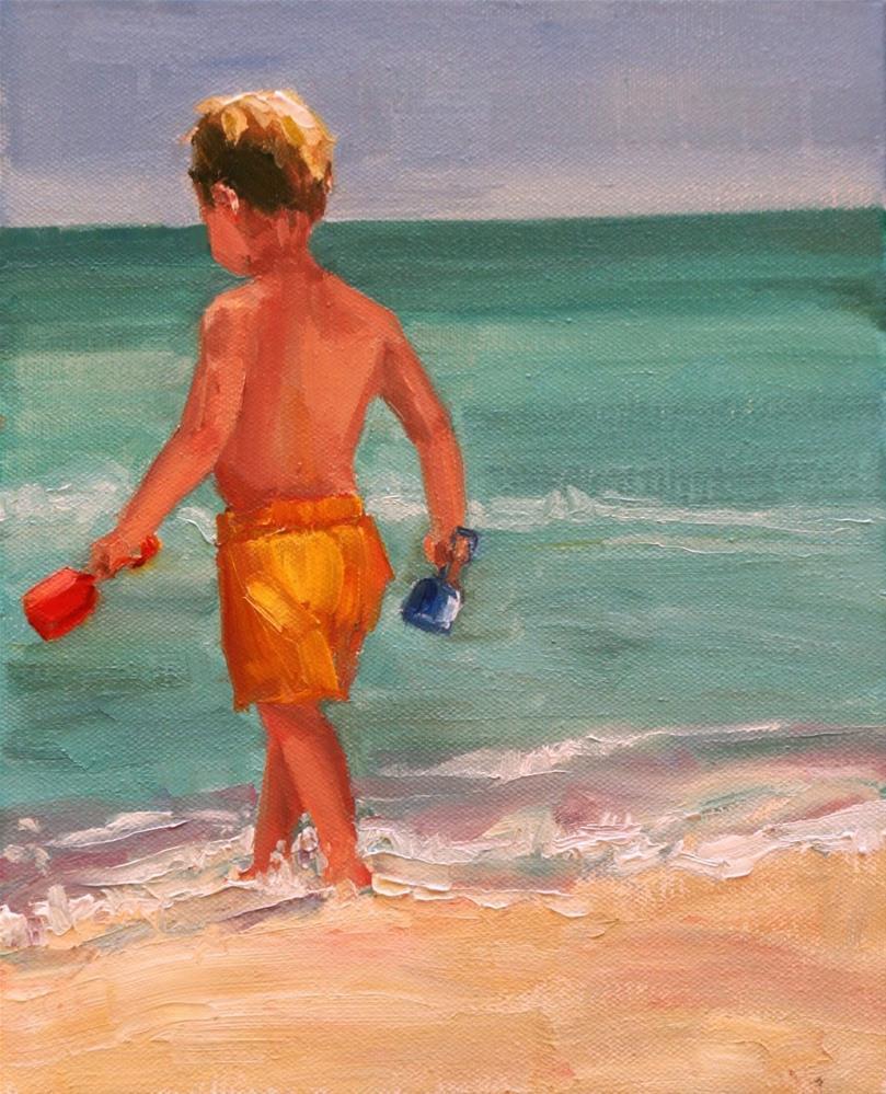 """two shovel job"" original fine art by Carol Carmichael"