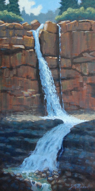 """La Plata Waterfall"" original fine art by Susan Matteson"
