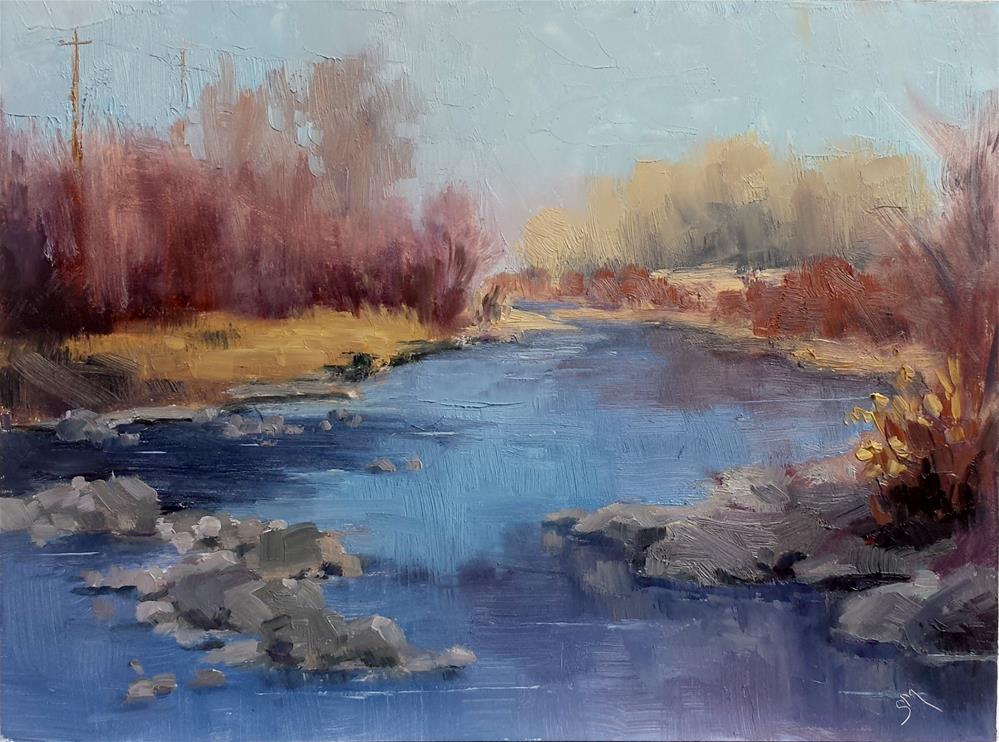 """Fall River"" original fine art by Sheila Marie"