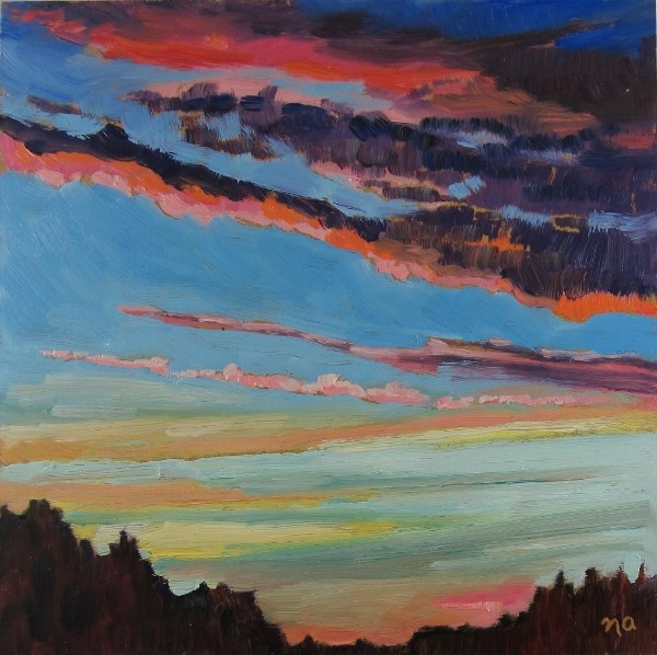 """Late Day Drive North"" original fine art by Nicki Ault"