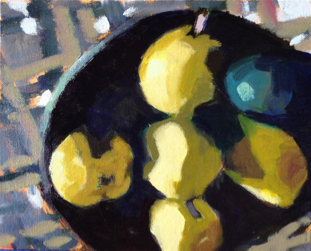 """One Black Sheep (Pears and One Avocado)"" original fine art by Pamela Hoffmeister"