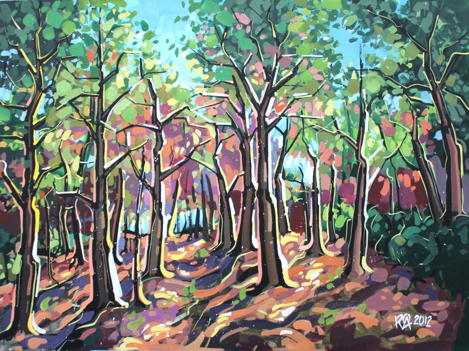 """""""The end of summer 1"""" original fine art by Roger Akesson"""