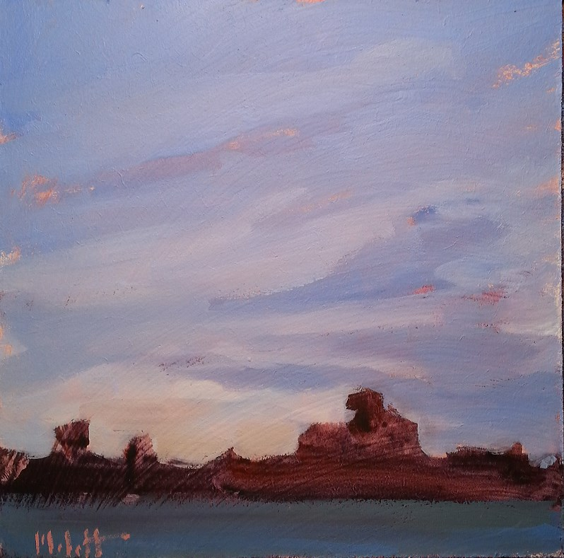 """Rock Formation Limestone Quarry Landscape Oil Painting"" original fine art by Heidi Malott"