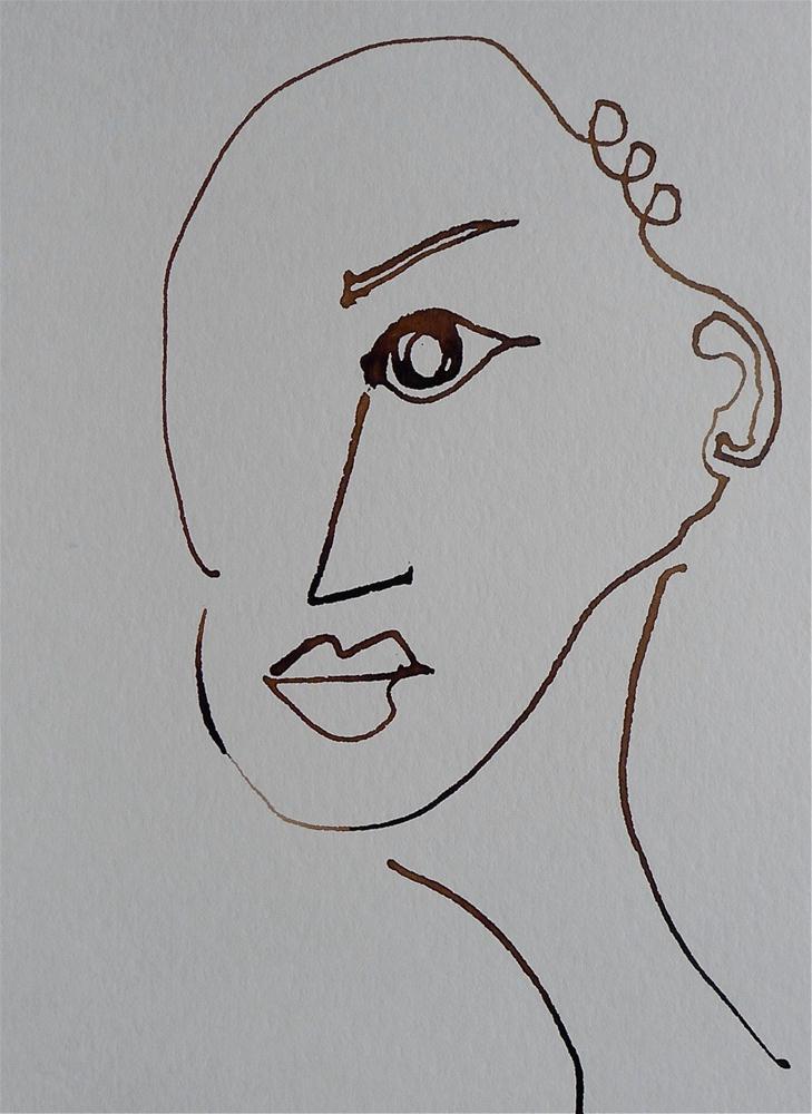"""Eye nose mouth"" original fine art by Ulrike Schmidt"