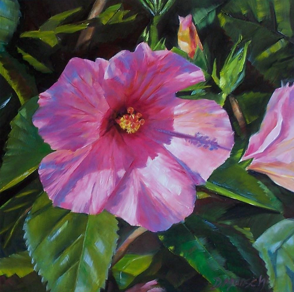 """Pink Hibiscus"" original fine art by Donna Munsch"