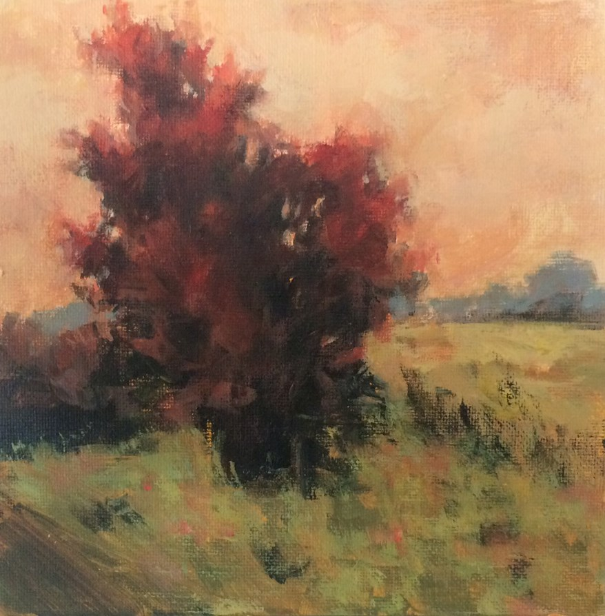 """The Scarlet Tree"" original fine art by Shannon Bauer"