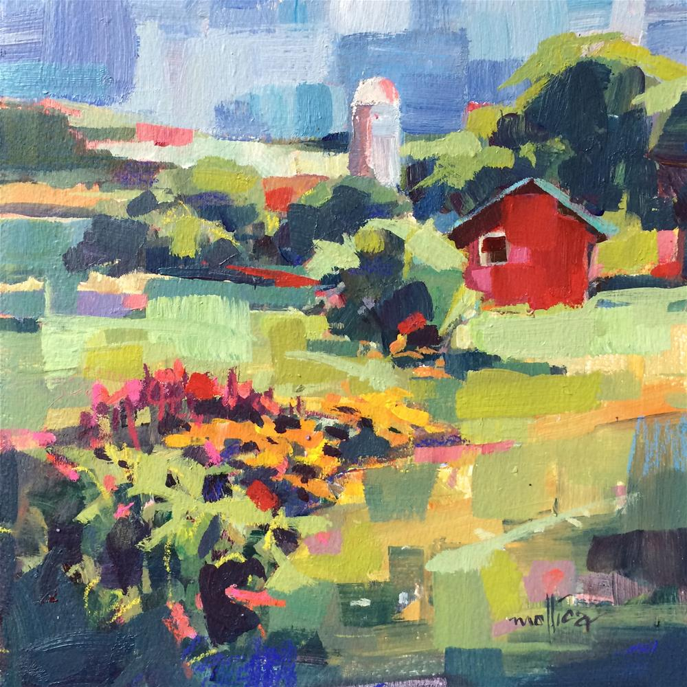 """""""Amy's Barn"""" original fine art by Patti Mollica"""