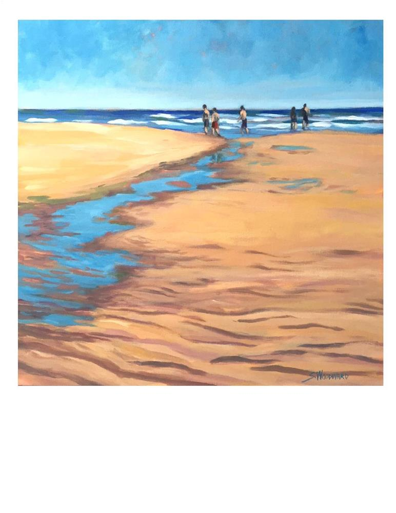"""Pine Point Sandbar"" original fine art by Suzanne Woodward"