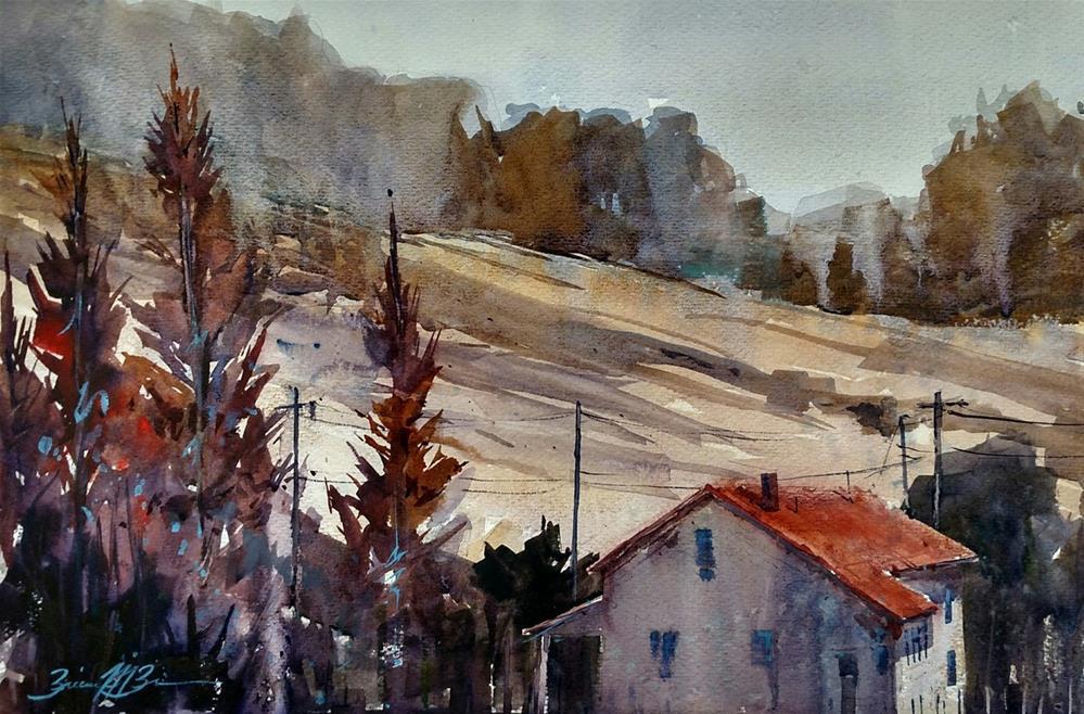 """""""Autumn Cypruss"""" original fine art by Brienne M Brown"""