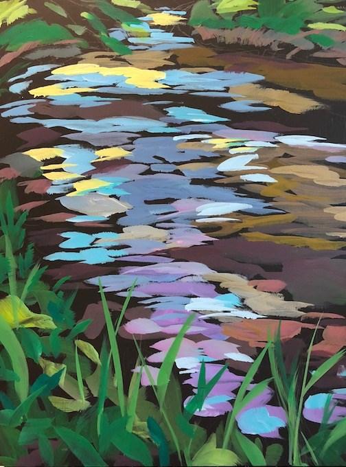 """Summer Creek"" original fine art by Kat Corrigan"