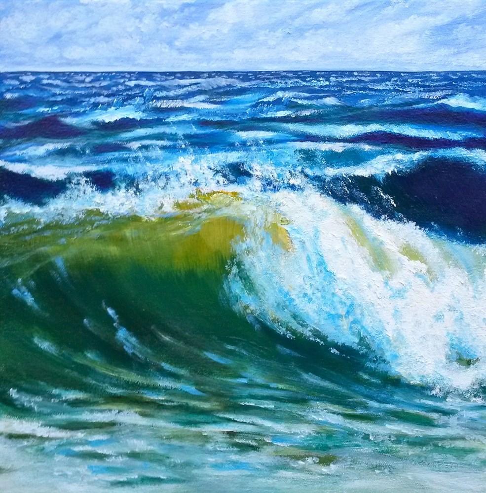 """Cape Cod Roller"" original fine art by Jill Bates"