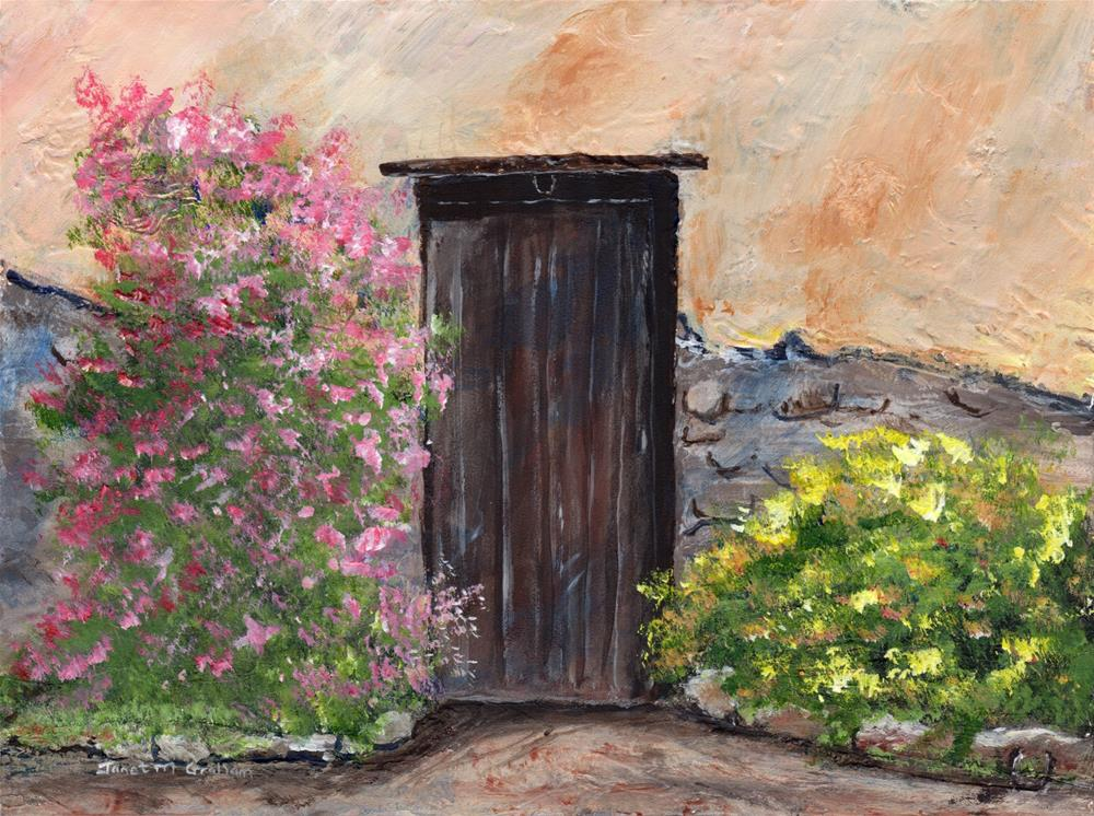 """Old Stable Door"" original fine art by Janet Graham"