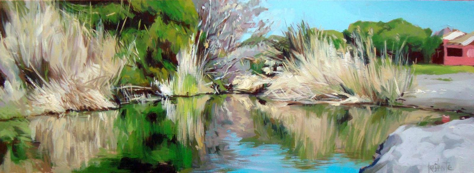 """Quiet waters"" original fine art by Víctor Tristante"
