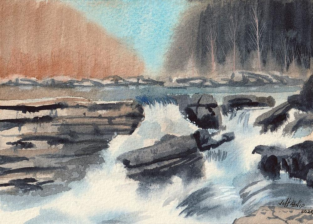 """Center Hill Falls"" original fine art by Jeff Atnip"