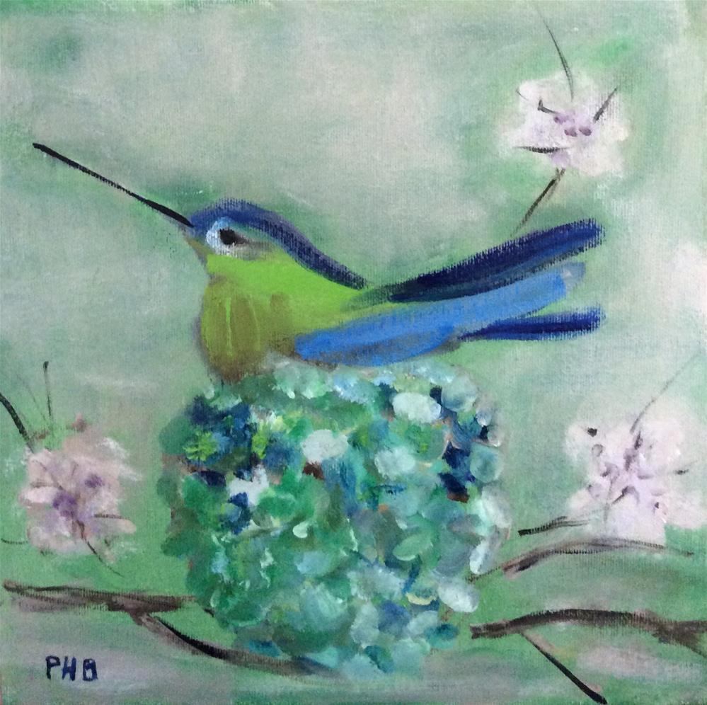 """Hummingbird Nest"" original fine art by Patty Barnes"