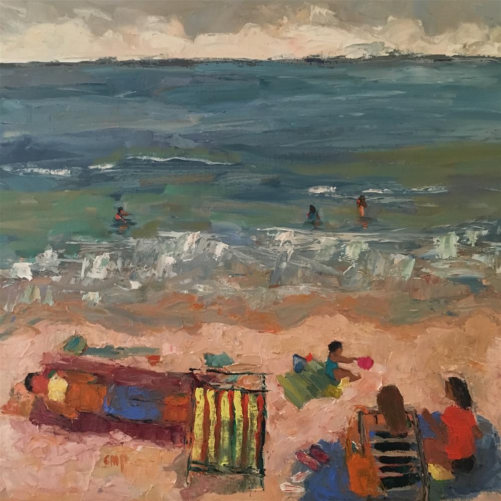 """Figurative seascape"" original fine art by Christine Parker"
