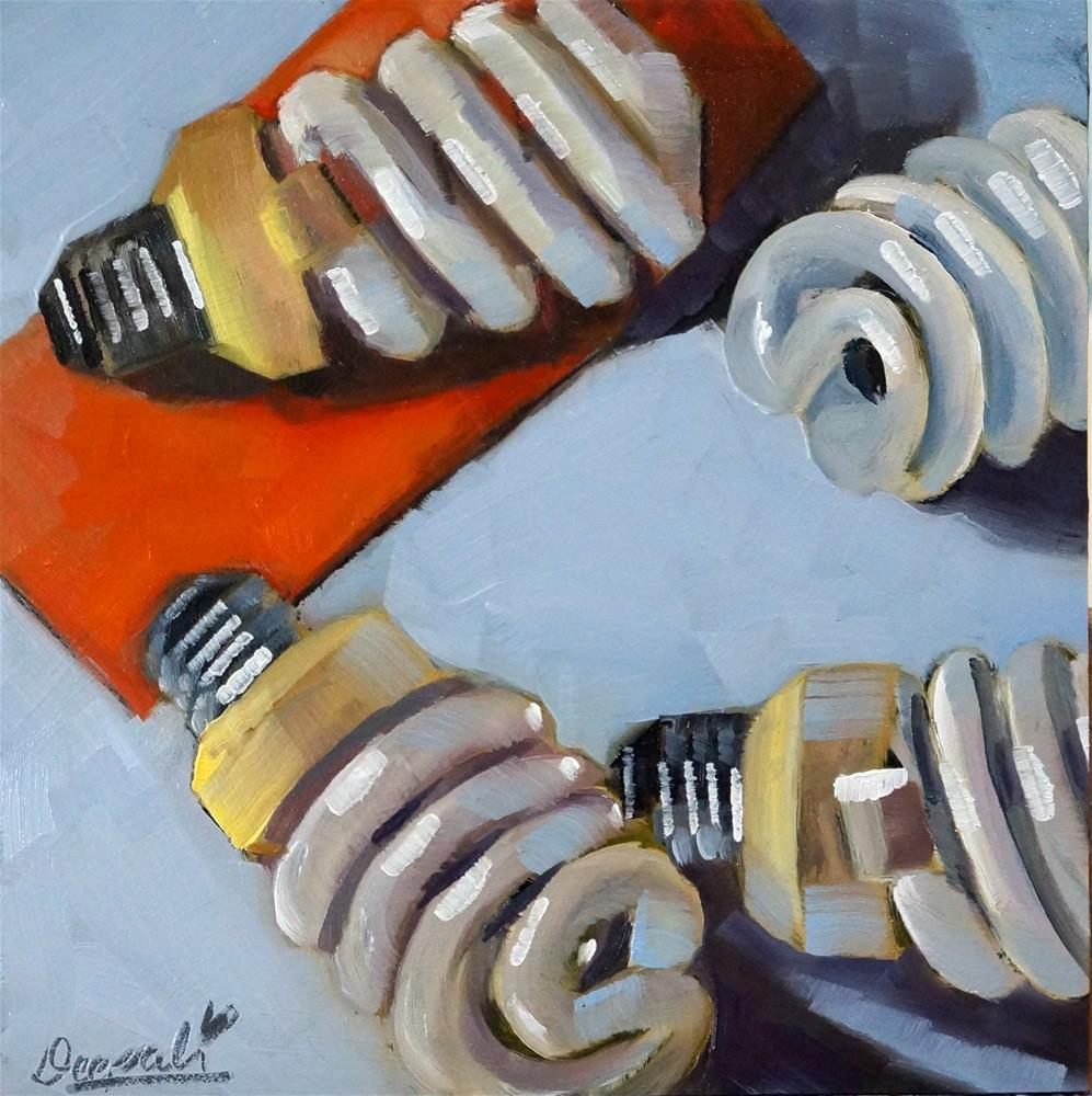 """Bulbs"" original fine art by Dipali Rabadiya"