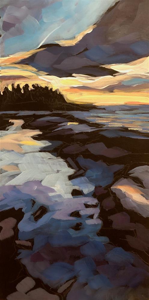 """Morning Clouds Over Superior"" original fine art by Kat Corrigan"