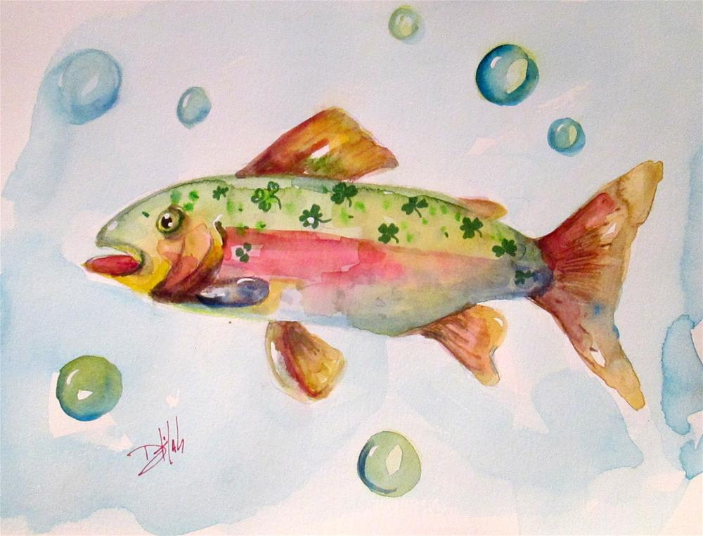"""Irish Trout"" original fine art by Delilah Smith"
