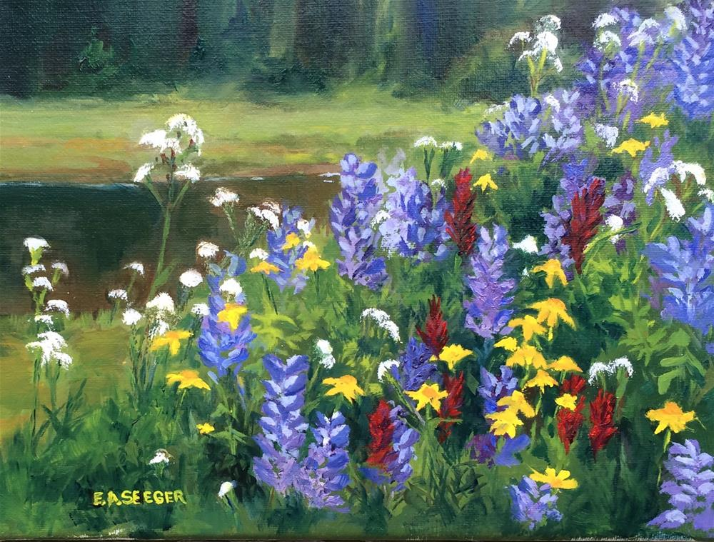 """Mt. Rainier Meadow Flowers"" original fine art by Elisabeth Seeger"