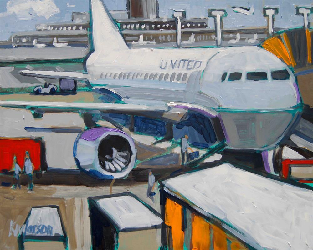 """Loading United"" original fine art by Kevin Larson"