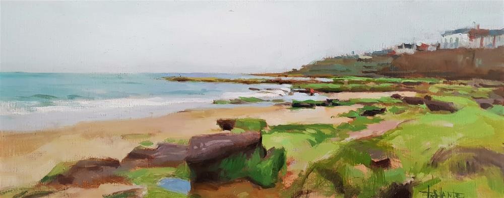 """""""Rocky beach"""" original fine art by Víctor Tristante"""