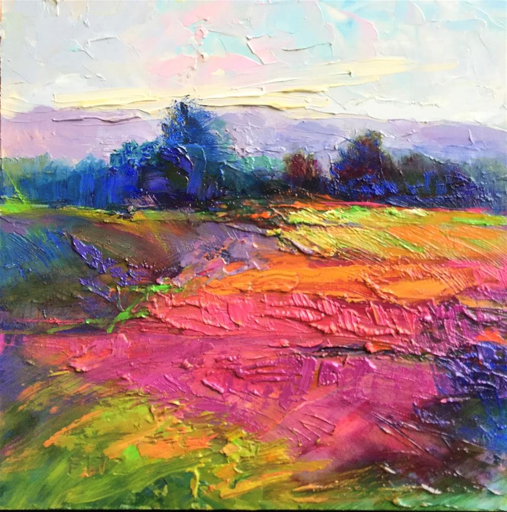 """Impasto Landscape 98"" original fine art by Charlotte Fitzgerald"