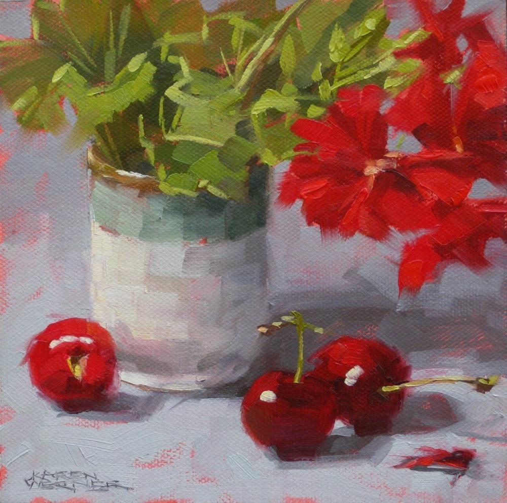 """""""Red Show"""" original fine art by Karen Werner"""