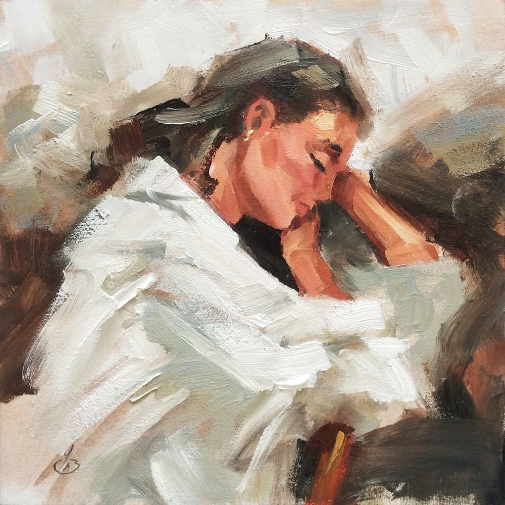 """DAYDREAMING"" original fine art by Tom Brown"