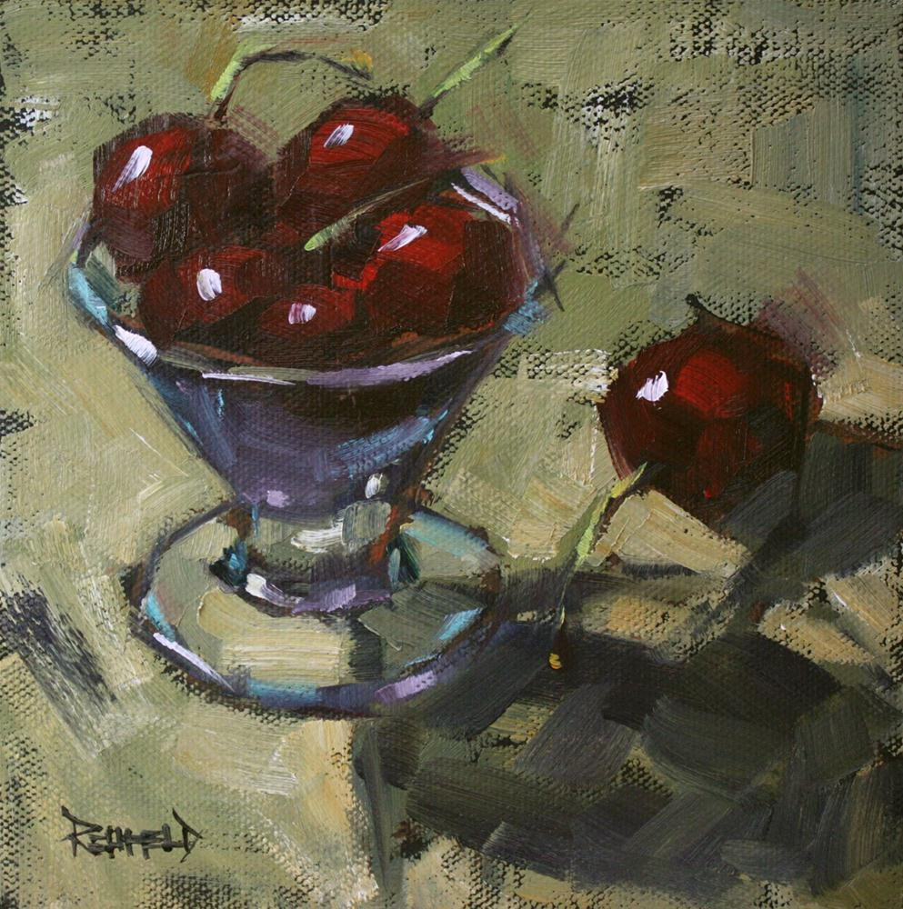 """Cherry Dessert"" original fine art by Cathleen Rehfeld"