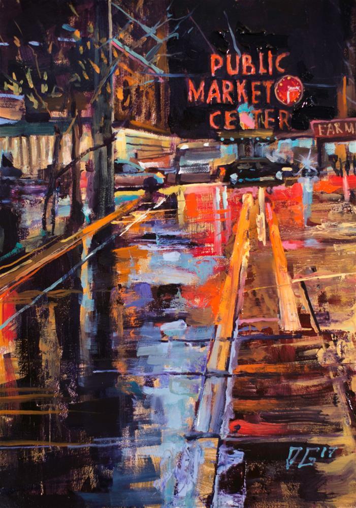 """""""Seattle № 3"""" original fine art by Dimitriy Gritsenko"""