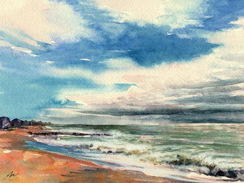 """Skying"" original fine art by Ann Nemcosky"