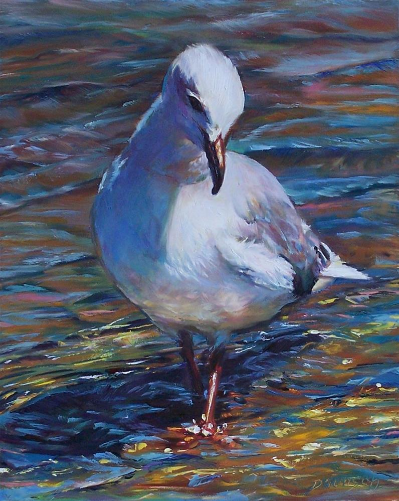 """Wading In #2"" original fine art by Donna Munsch"