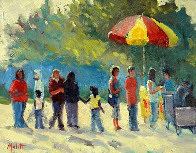 """""""Ice Cream in the park 11x14"""" original fine art by Heidi Malott"""