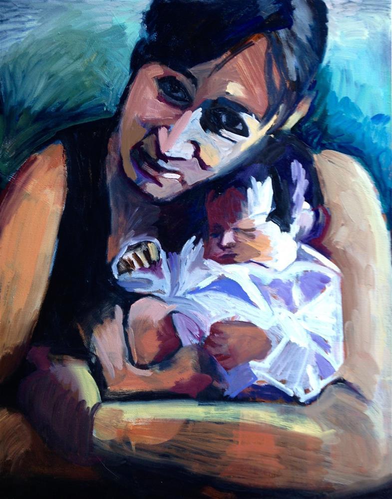 """Embrace"" original fine art by Pamela Hoffmeister"
